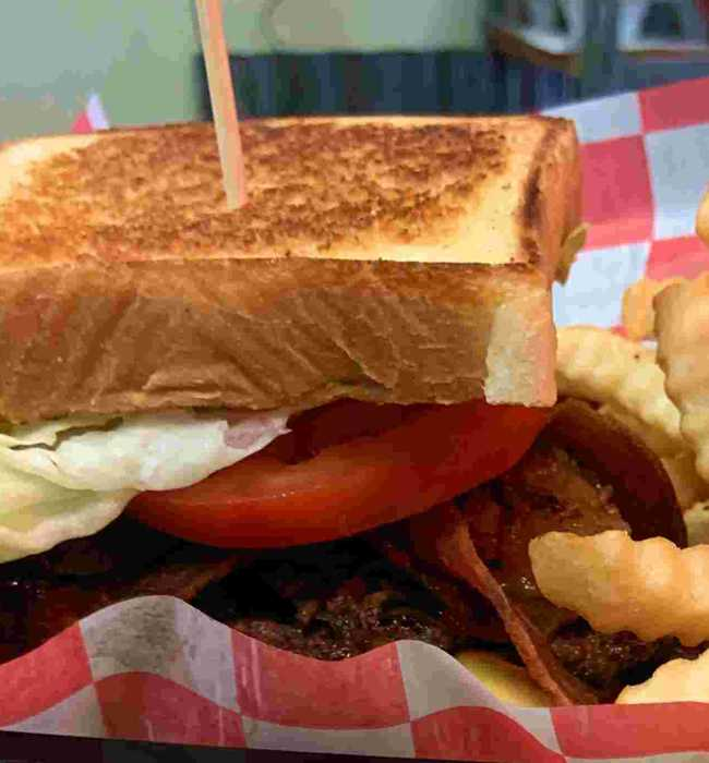 BLT with Fries - Pig Pen Barbeque