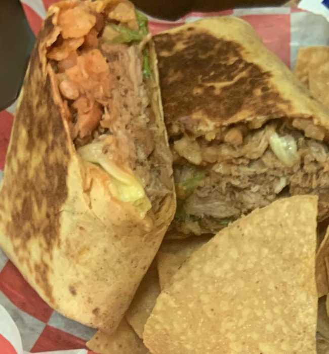 BBQ Pork Burrito - Pig Pen Barbeque